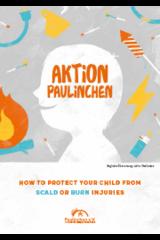 """Broschüre in Englisch """"Aktion Paulinchen - So schützen Sie Ihr Kind vor Verbrennungen und Verbrühungen"""""""