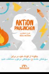 """Broschüre in Farsi """"Aktion Paulinchen - So schützen Sie Ihr Kind vor Verbrennungen und Verbrühungen"""""""